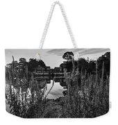 Redd's Pond Lupines Sunrise Black And White Weekender Tote Bag