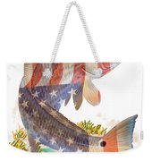 Redfish, White And Blue Weekender Tote Bag