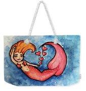 Redhead Mermaid Weekender Tote Bag