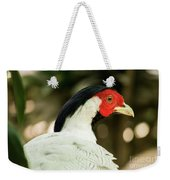 Redheaded Bird Portrait. Weekender Tote Bag