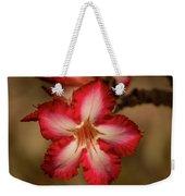 Redwhite Flower Weekender Tote Bag