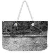 Reeds And Religion Black And White Weekender Tote Bag