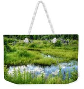 Reflected Clouds In Grass Weekender Tote Bag