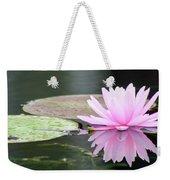 Reflected Water Lily Weekender Tote Bag