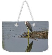 Reflecting Heron Weekender Tote Bag