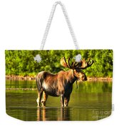 Reflecting In Fishercap Weekender Tote Bag
