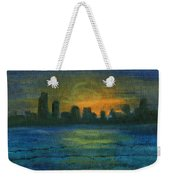 Reflecting Night Weekender Tote Bag