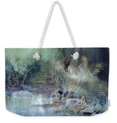 Reflecting On A Misty Morning Weekender Tote Bag