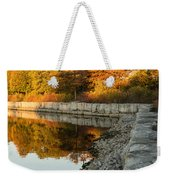 Reflecting On Autumn - Gray Rocks Highlighting The Foliage Brilliance Weekender Tote Bag