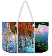 Reflecting On Autumn - Triptych Weekender Tote Bag