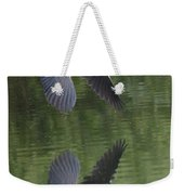 Reflecting On Flight Weekender Tote Bag