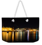 Reflecting On Malta - Cruising Out Of Valletta Grand Harbour Weekender Tote Bag