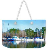 Reflecting The Masts - Watercolor Style Weekender Tote Bag
