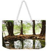Reflecting Tree Trunks Weekender Tote Bag