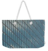 Reflection Clouds On Building Weekender Tote Bag