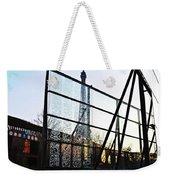 Reflection Eiffel Paris Weekender Tote Bag