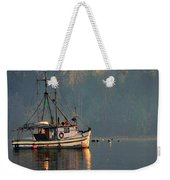 Reflections Of A Nautical Timepiece Weekender Tote Bag