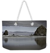 Reflection Of Hay Stack Weekender Tote Bag