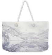 Reflection Of Snowcapped Mountains Weekender Tote Bag