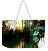 Reflection Of The Wooden Boat Weekender Tote Bag