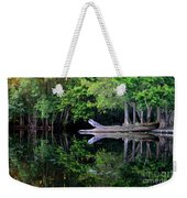 Reflection Off The Withlacoochee River Weekender Tote Bag