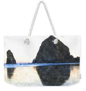 Reflection Upon The Sand Weekender Tote Bag