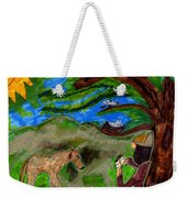 Reflections And Prayer Of St. Francis Weekender Tote Bag