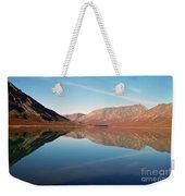 Mountains Reflected On A Beautiful Lake Weekender Tote Bag