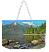 Reflections Glacier National Park  Weekender Tote Bag by Michael Peychich
