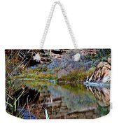 Reflections In Desert River Canyon Weekender Tote Bag