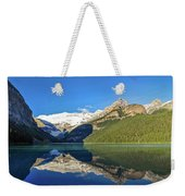 Reflections In The Water At Lake Louise, Canada Weekender Tote Bag