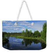 Reflections Lake Pioneer Peak Alaska Weekender Tote Bag