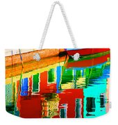 Reflections Near The Red Hull Weekender Tote Bag