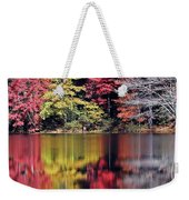 Reflections Of A Bare Grey Tree Weekender Tote Bag