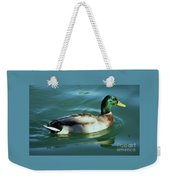 Reflections From A Mallard In Omaha Weekender Tote Bag