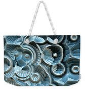 Reflections Of A Fractal Fossil Weekender Tote Bag