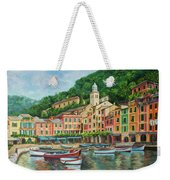 Reflections Of Portofino Weekender Tote Bag by Charlotte Blanchard