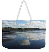Reflections Of Widemouth Bay Weekender Tote Bag