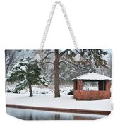 Reflections Of Winter Weekender Tote Bag by Betty LaRue