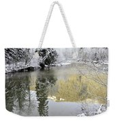 Reflections Of Winter Weekender Tote Bag