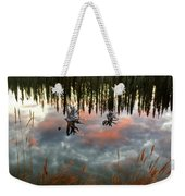 Reflections Off Pond In British Columbia Weekender Tote Bag