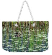 Reflections On Duck Pond Weekender Tote Bag