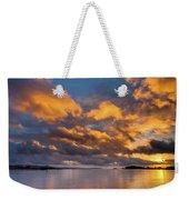 Reflections On Fire Sunset Weekender Tote Bag