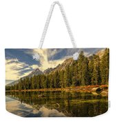 Reflections On Jenny Lake Weekender Tote Bag