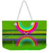 Reflections On Lime Weekender Tote Bag