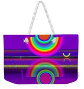 Reflections On Mauve Weekender Tote Bag