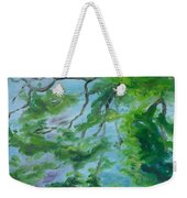 Reflections On The Mill Pond Weekender Tote Bag