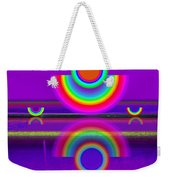 Reflections On Violet Weekender Tote Bag