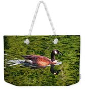 Reflections - Swimming Goose 003 Weekender Tote Bag