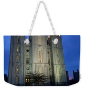 Reflective Temple Weekender Tote Bag